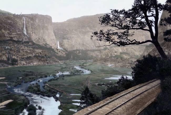 Hetch Hetchy Valley Overview, Yosemite Park c1910