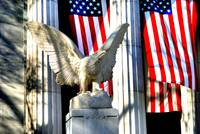 Patriotic Eagle & Flag at Grant's Tomb