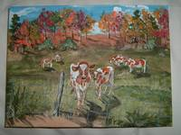 Red Holstein Pasture Painting 001