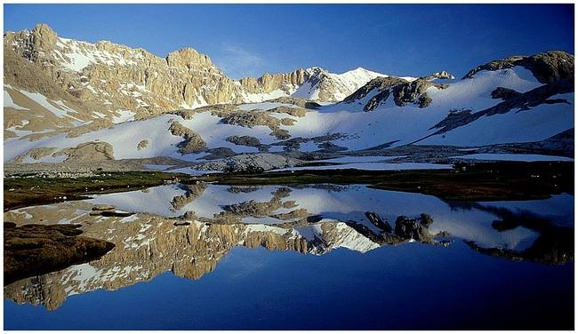Reflection on  a Glacier Lake