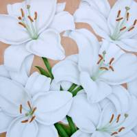 White Lilies Art Prints & Posters by Terri Meyers