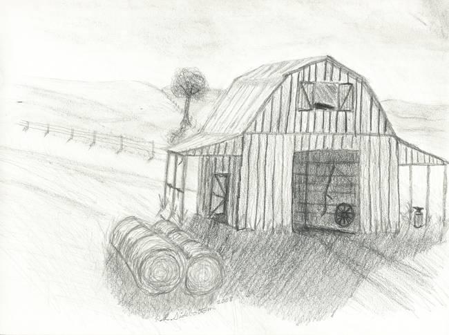 Old Barn By Rick Sidebottom