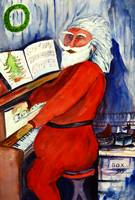 Santa Playing The Piano by Sonya P.
