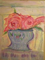 Flowers in a Blue Pot 1
