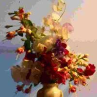 sweetpeas and fushias by Barb Tallberg