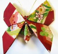 Fabric Origami Butterfly Ornament