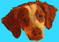 Pop Art of Dog's Head, Blue