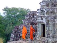 Angkor Wat Monks  Cambodia