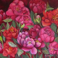 Pink Peonies, Art Prints & Posters by Barbara klocke