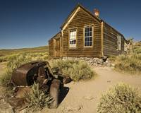 A house in the ghost town of Bodie, CA