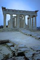 Temple of Aphaia, Aegina, Spring Evening 2003 9 by Priscilla Turner