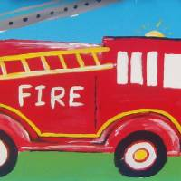 fireengine Art Prints & Posters by withhugsandkisses