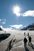 People on Athabasca Glacier, Jasper National Park