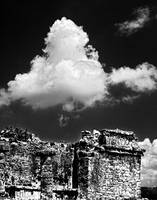 Tulum Temple Wall and Clouds