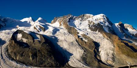 Breithorn with deep blue sky.