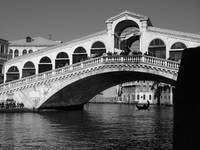 Rialto Bridge With Silhouette of Gondola