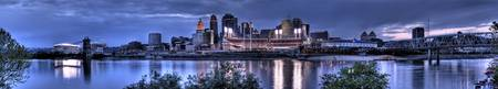 Cincinnati Twilight Panorama