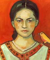 Girl with Yellow Bird