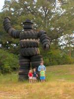 Daddy, kids and the tire man