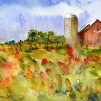 """Yasgur Farm, Woodstock"" by schulmanart"