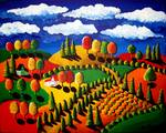 Colorful Fall Landscape Posters