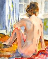 Sun Bather, Nude Female Art