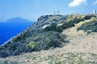 Climbing Cape Sounion, Attica, Greece