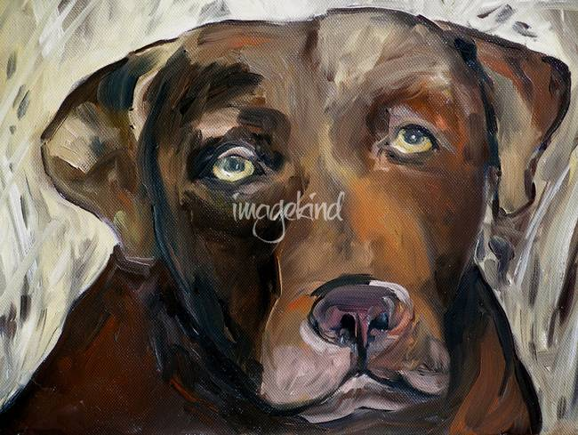 Chocolate Lab Art Prints by Michelle Noe - Shop Canvas and Framed