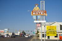 Route 66. Amarillo. Cowboy Motel sign.