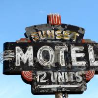 Sunset Motel, Dee Oberle Art Prints & Posters by Gypsy Chicks Photography