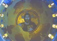 Χριστὸς Παντοκράτωρ, mosaic, Daphni, Greece by Priscilla Turner