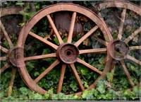 Country western wagon wheels