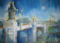 Frog Bridge at Night by Sara Fraser