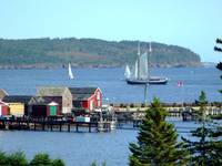 two mast Schooner and sail boats
