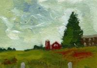 Yasgur's Farm, Oil Study