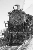 Pencil Locomotive