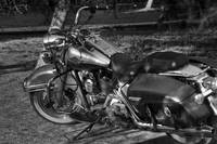 Harley B&W vintage photography
