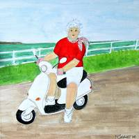 Gran Loves Her Scooter