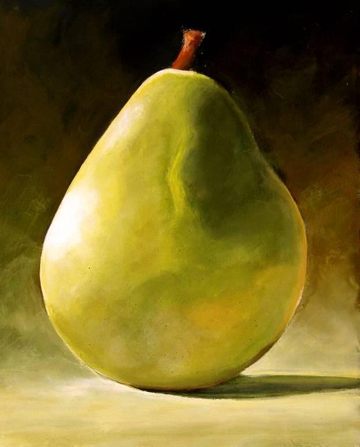 Saatchi Art: Three ripe golden pear Painting by Sergei Sarkisov