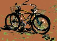Bikes on the Beach 1 dark sand