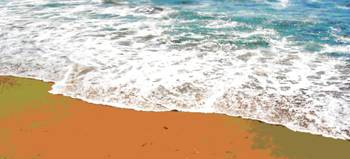 Horizontal beach surf 1 orange sand