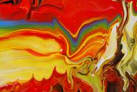Abstract Fluid Rainbow Painting