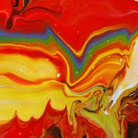 """Abstract Fluid Rainbow Painting"" by markchadwickart"