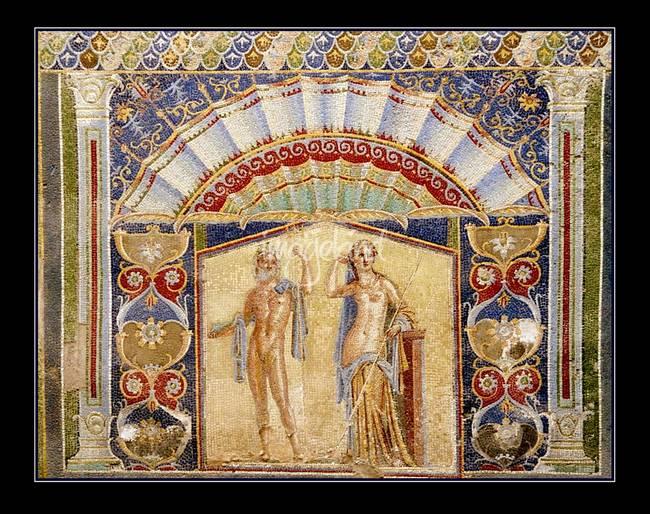 Ancient Roman Wall Mosaic: Herculaneum by Terez 93