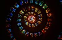 Spiraling Stained Glass Windows