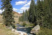 Yampa River in Steamboat Springs, Colorado