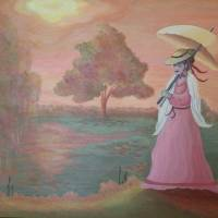 Lady In Waiting Art Prints & Posters by Kimberley Walton
