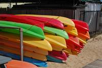 Colorful Sea Kayaks
