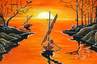 Batik Painting - GoingFishing