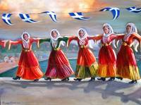 'Skiathos Dancers in Traditional Dress'